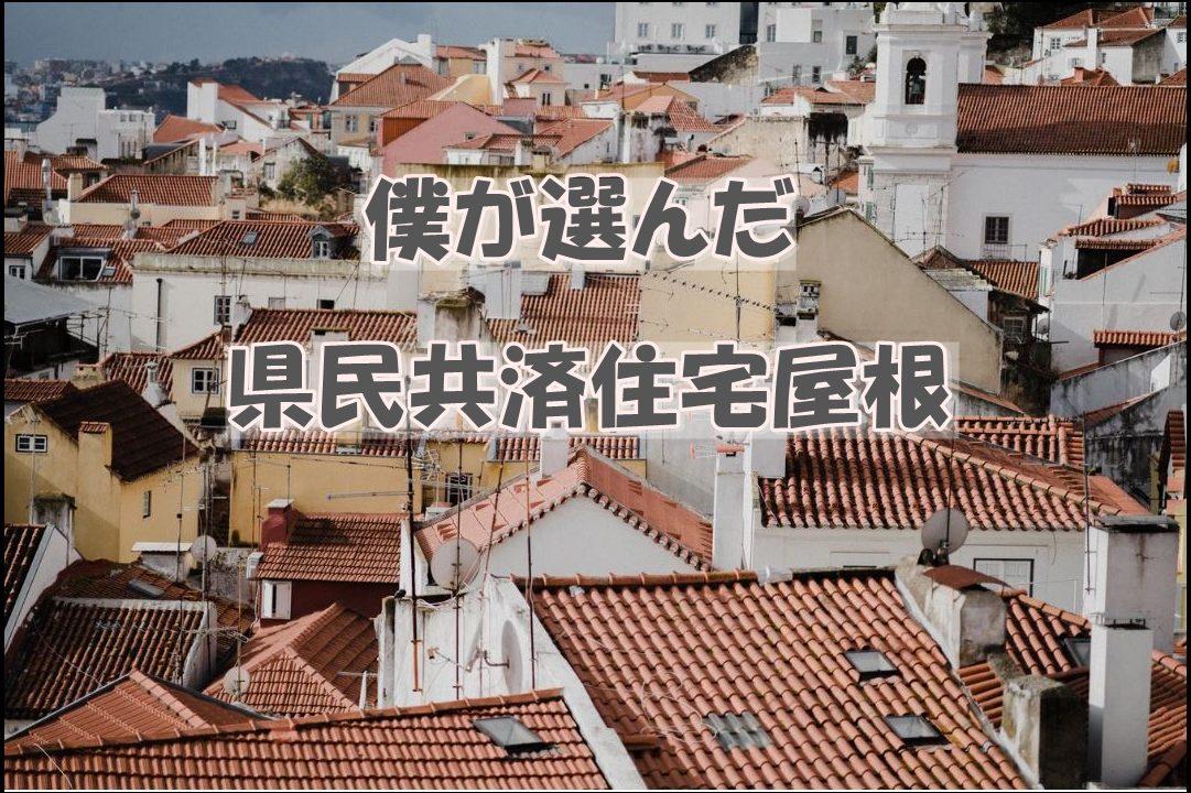 僕が選んだ県民共済住宅の屋根について